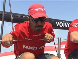 Leg 3 arrival - Interview with Andre Fonseca (BRA)