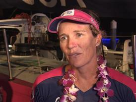 Leg 3 arrival - Interview with Carolijn Brouwer (NED)