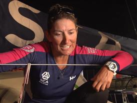 Leg 3 arrival - Interview with Dee Caffari (GBR)