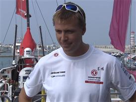 Leg 4 dock Interview with Martin Stromberg (SWE)