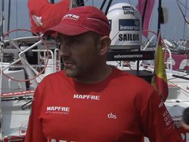Leg 4 dock interviews with Xabi Fernandez (ESP)
