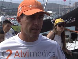 Leg 4 dock interview with Alberto Bolzan (ITA)