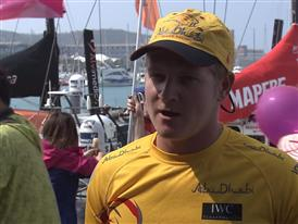 Leg 4 dock interview with Alex Higby (GBR)
