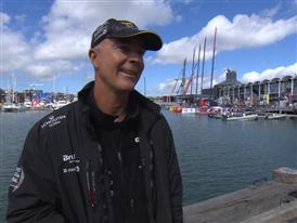 Pre-Leg 5 interviews with Bouwe Bekking (NED) - Dutch