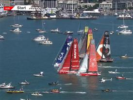 Team SCA wins second In-Port Race in Auckland, Team Brunel and MAPFRE on the podium