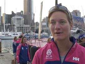 Leg 5 - Dock interview with Elodie Mettraux (SUI)