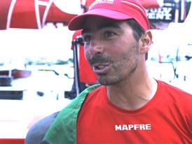 Leg 5 Finish Interview with Andre Fonseca (BRA)