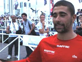 Leg 5 Finish Interview with Willy Altadill (ESP)