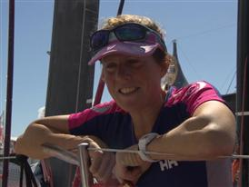 Leg 5 finish Interviews with Samantha Davies (GBR) - ENG