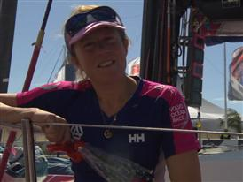 Leg 5 finish Interviews with Samantha Davies (GBR) - FRA