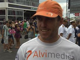 Leg 6 start dock Interview with Alberto Bolzan (ITA)