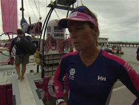 Leg 6 start dock Interviews with Carolijn Brouwer (NED)