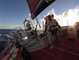 Dongfeng Race Team in the lead, Abu Dhabi at the back