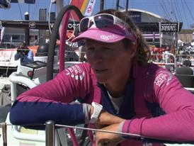 Leg 6 arrival interviews with Carolijn Brouwer (GBR)
