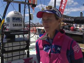 Pre-Leg 7 interviews interviews with Carolijn Brouwer (Dutch)