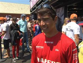 Leg 7 start dock Interview with Andre Fonseca (BRA)