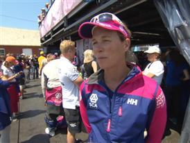 Leg 7 start dock Interviews with Carolijn Brouwer (NED)