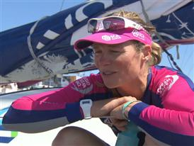 Leg 7 arrival interviews with Carolijn Brouwer (NED)