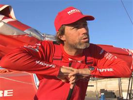 Leg 7 finish interviews with Iker Martinez (ENG)