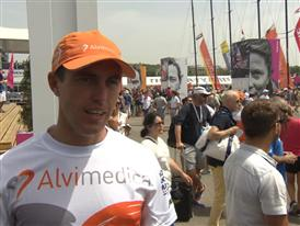 Leg 8 Start Interview with Alberto Bolzan (ITA)