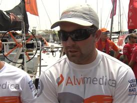Leg 8 Start Interview with Charlie Enright (USA)