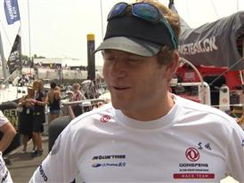 Leg 8 Start Interviews with Charles Caudrelier (FRA)