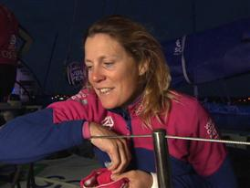 Leg 8 Win Interviews with Samantha Davies (GBR)