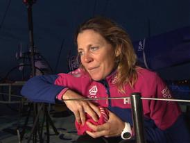 Leg 8 Win Interviews with Samantha Davies (FRA)