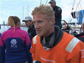 Leg 8 2nd place Interview with Nicolai Sehested (DEN)