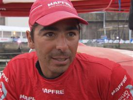 Leg 8 arrival Interview with Andre Fonseca (BRA)