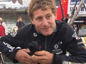 Leg 8 arrival Interviews with Charles Caudrelier (FRA)