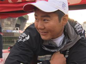 Leg 8 arrival Interview with Wolf (CHN)