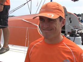 Lorient SCA In-Port Race Win Interview with Alberto Bolzan (ITA)
