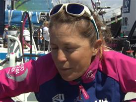 Leg 9 Restart  Interviews - Samantha Davies (FRE)