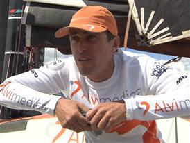 Leg 9 Win Interview - Alberto Bolzan (ITA) - in Italian