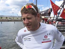 Leg 9 arrival Interviews - Charles Caudrelier (FRA) - in English