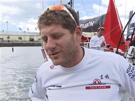 Leg 9 arrival Interviews - Charles Caudrelier (FRA) - in French