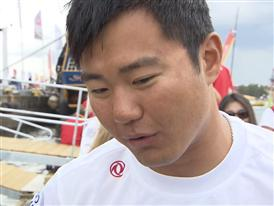 Leg 9 arrival Interview - Wolf (CHN) - in Chinese