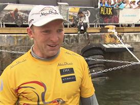 Leg 9 arrival and Volvo Ocean Race Win Interview - Justin Slattery (IRL) - in English
