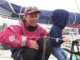 Leg 9 arrival Interviews - Carolijn Brouwer (NED) - Dutch