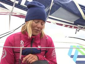 Leg 9 arrival Interview - Anna-Lena Elled (SWE)