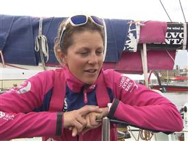 Leg 9 arrival Interviews - Samantha Davies (GBR) -English