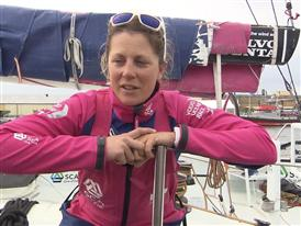 Leg 9 arrival Interviews - Samantha Davies (GBR) -French