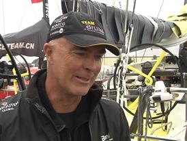 Gothenburg In-Port Race Interview with Bouwe Bekking (NED) - in Dutch