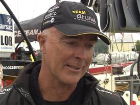 Gothenburg In-Port Race Interview with Bouwe Bekking (NED) - in English