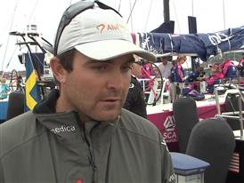 Gothenburg In-Port Race Interview with Charlie Enright (USA)