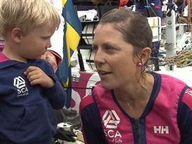Gothenburg In-Port Race Interview with Samantha Davies (GBR) - English