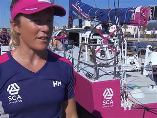 Interview - Sam Davies (Team SCA) - Leg 0