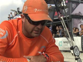Sanya's Team Vestas Wind Interview with Charlie Enright (USA)