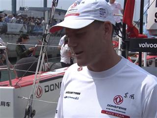 Leg 4 dock Interviews with Charles Caudrelier (FRA)